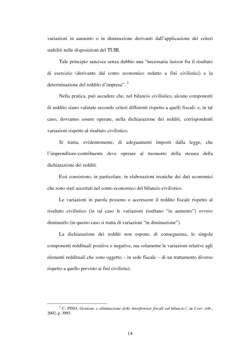 Anteprima della tesi: Deducibilità dei costi dal reddito d'impresa: il principio dell'imputazione al conto economico, Pagina 7