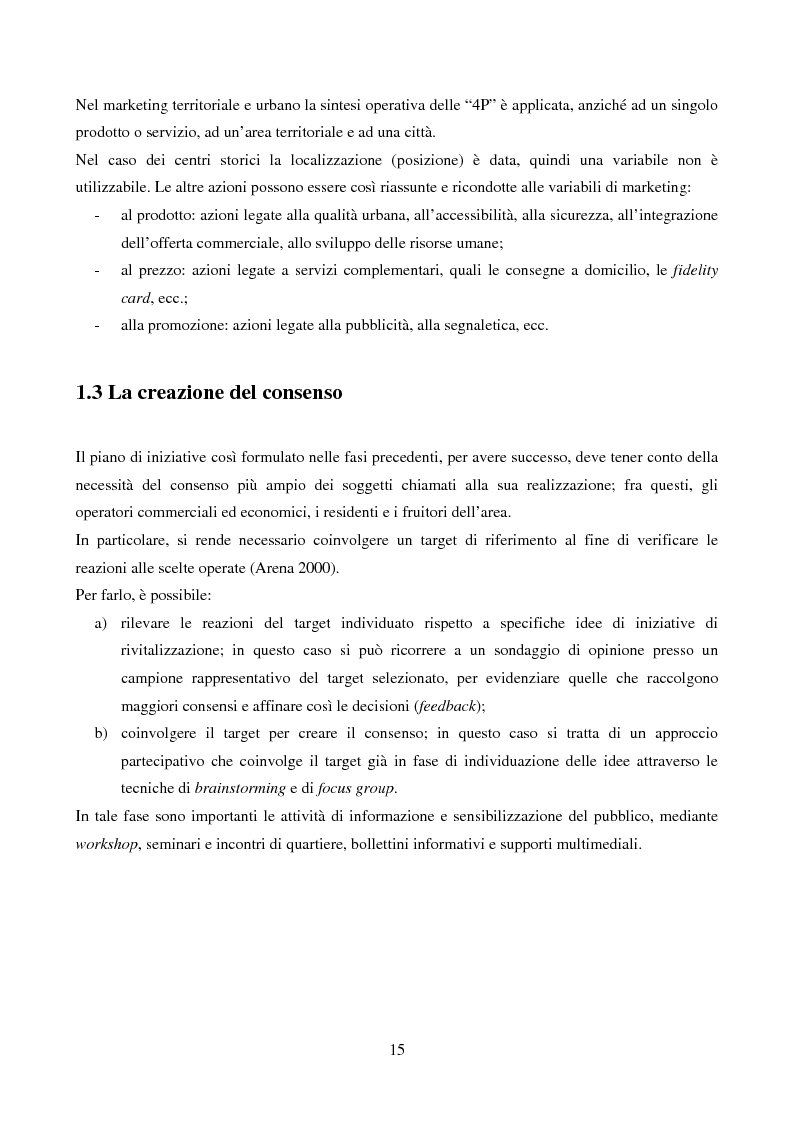 Anteprima della tesi: Marketing urbano e town centre management: esperienze italiane e britanniche a confronto, Pagina 10