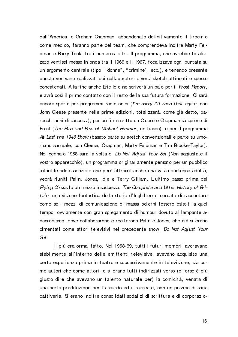Anteprima della tesi: ''Non sono il Messia, lo giuro su Dio!''- Messianismo e modernità in ''Life of Brian'' dei Monty Python, Pagina 13