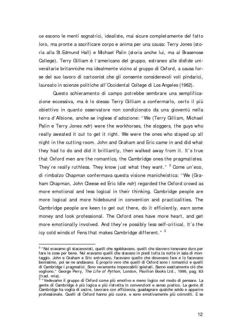 Anteprima della tesi: ''Non sono il Messia, lo giuro su Dio!''- Messianismo e modernità in ''Life of Brian'' dei Monty Python, Pagina 9