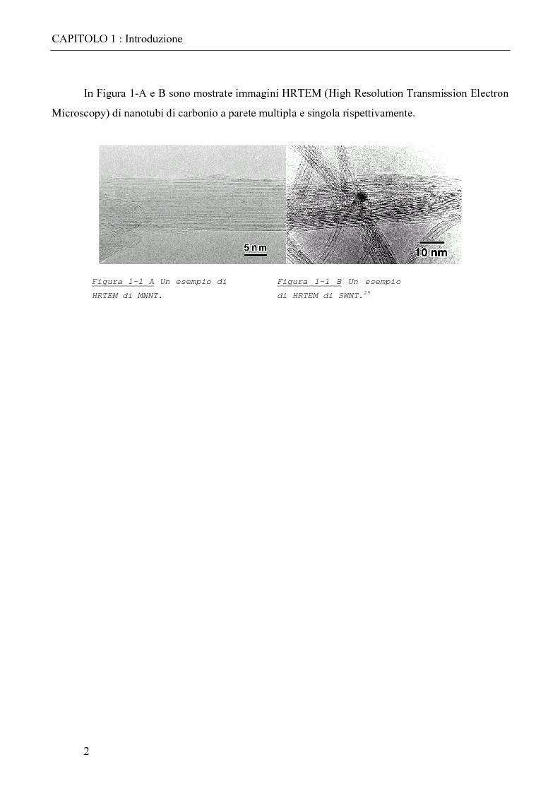 Anteprima della tesi: Derivati solubili di nanotubi di carbonio, Pagina 2