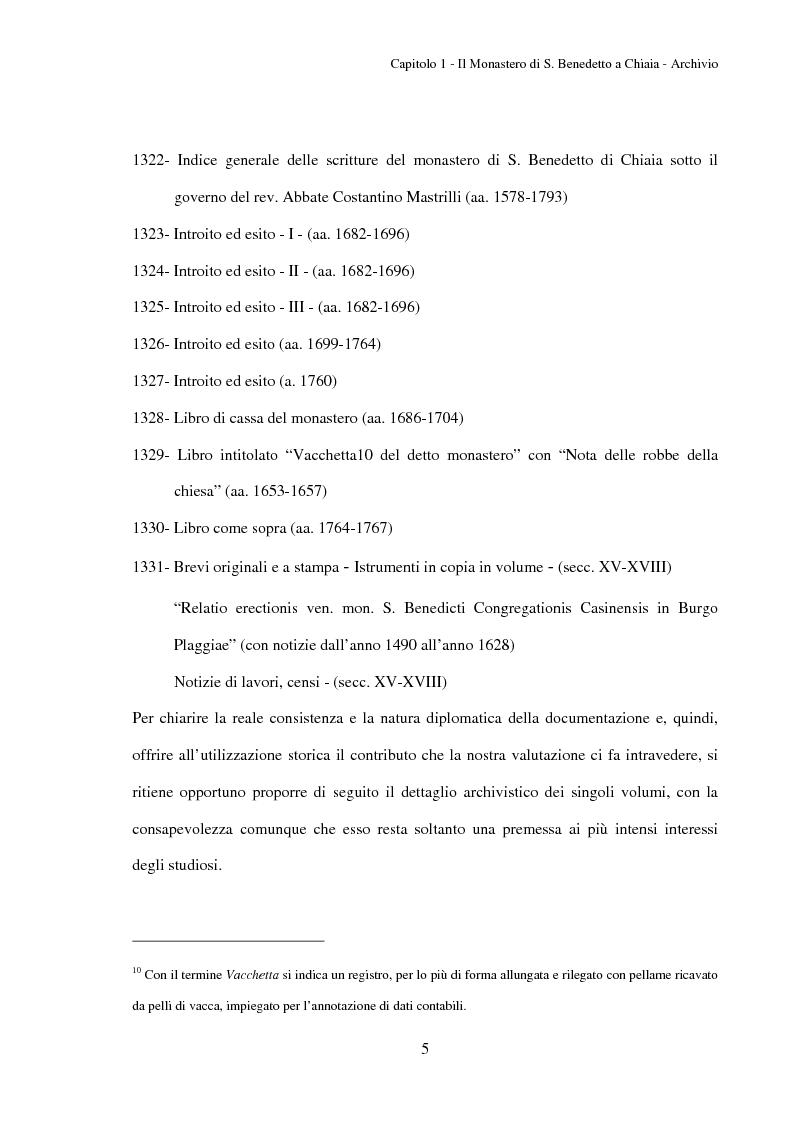 Anteprima della tesi: L'Archivio del monastero di S. Benedetto a Chiaia (Archivio di Stato di Napoli, Corporazioni religiose volumi 1322-1331), Pagina 11