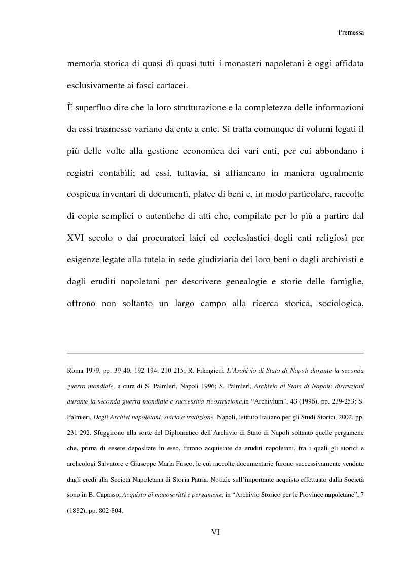 Anteprima della tesi: L'Archivio del monastero di S. Benedetto a Chiaia (Archivio di Stato di Napoli, Corporazioni religiose volumi 1322-1331), Pagina 4