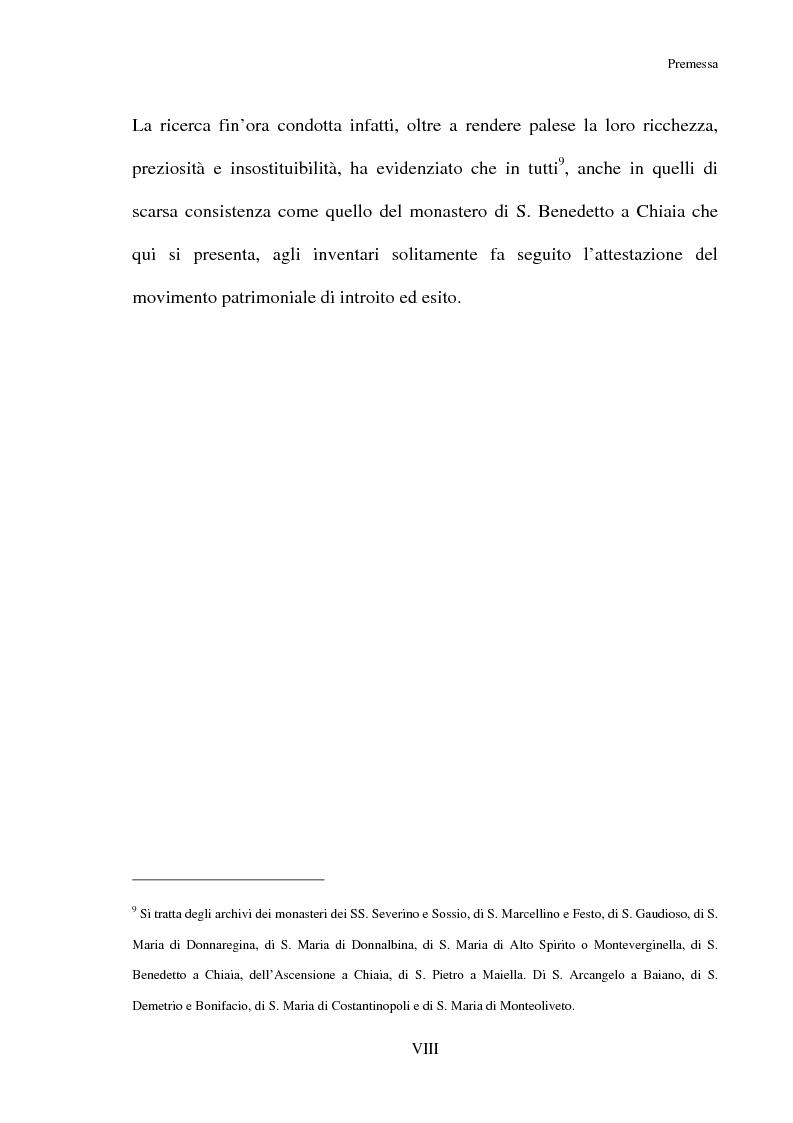 Anteprima della tesi: L'Archivio del monastero di S. Benedetto a Chiaia (Archivio di Stato di Napoli, Corporazioni religiose volumi 1322-1331), Pagina 6