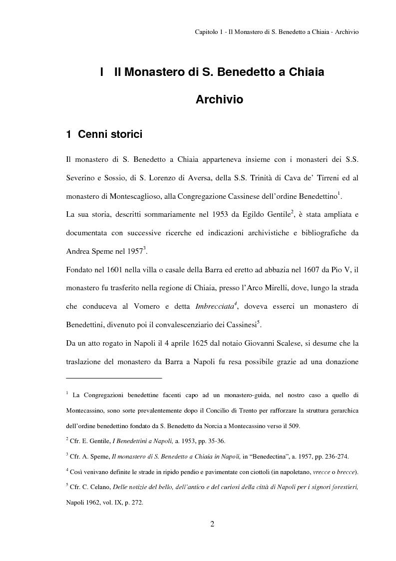 Anteprima della tesi: L'Archivio del monastero di S. Benedetto a Chiaia (Archivio di Stato di Napoli, Corporazioni religiose volumi 1322-1331), Pagina 8