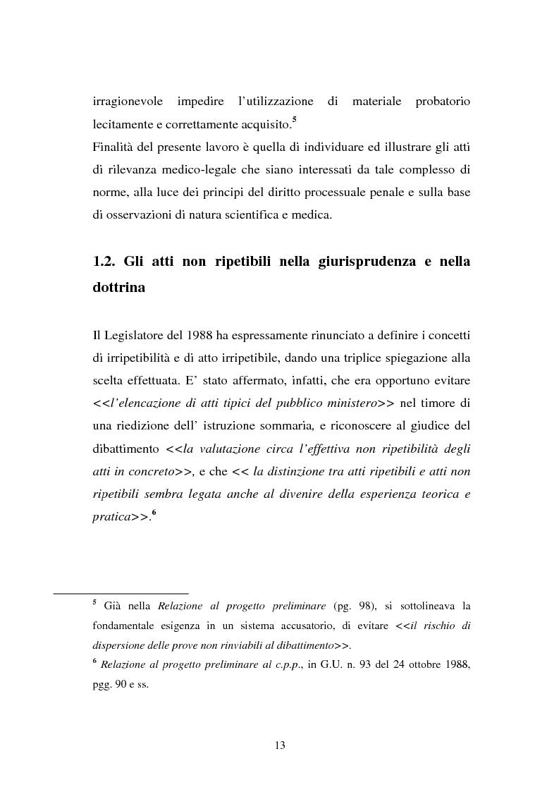 Anteprima della tesi: Atti non ripetibili di rilevanza medico-legale, Pagina 9