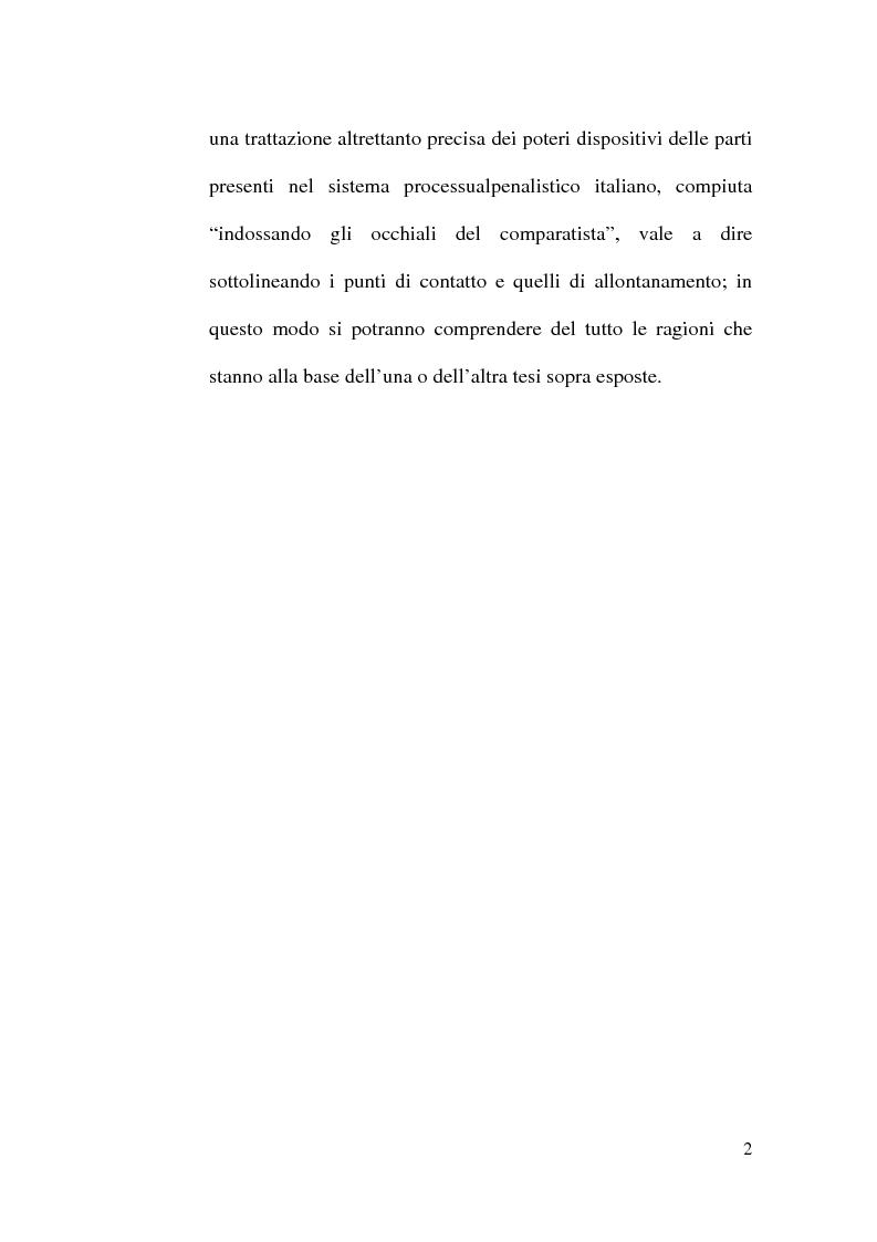 Anteprima della tesi: I poteri dispositivi delle parti nelle esperienze straniere, Pagina 2