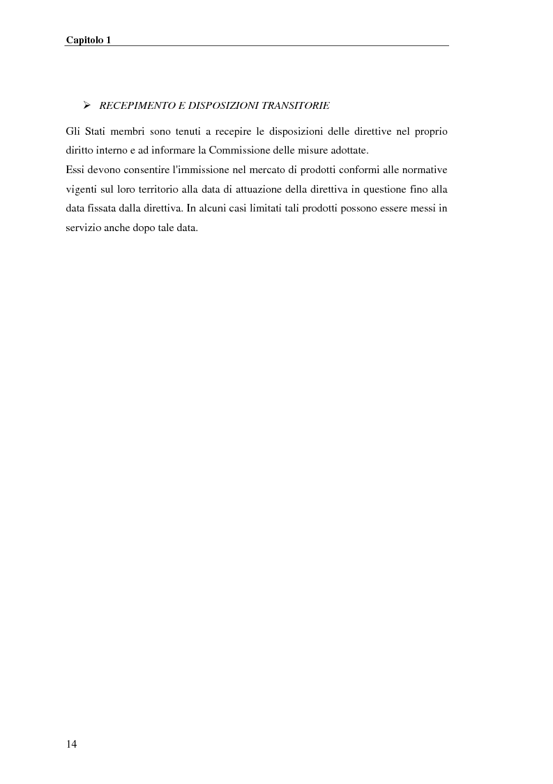 Anteprima della tesi: analisi e applicazione della direttiva R&TTE in un laboratorio di certficazione, Pagina 14