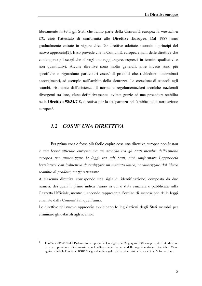 Anteprima della tesi: analisi e applicazione della direttiva R&TTE in un laboratorio di certficazione, Pagina 5