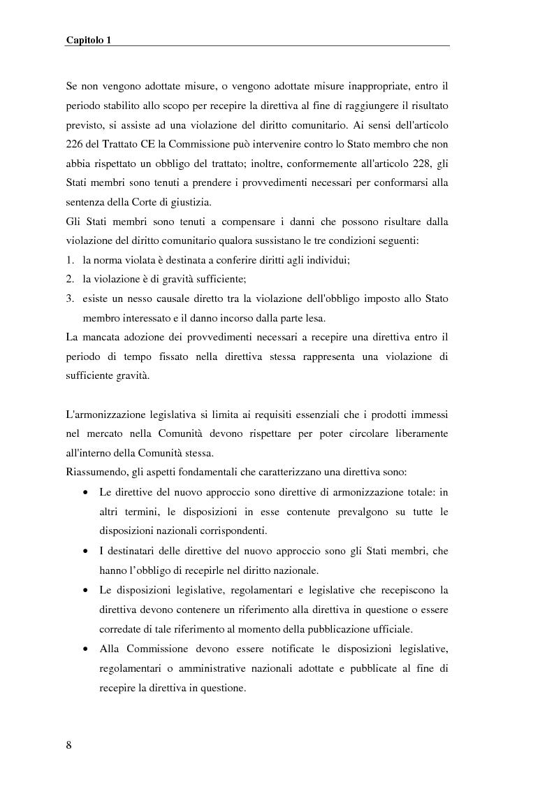 Anteprima della tesi: analisi e applicazione della direttiva R&TTE in un laboratorio di certficazione, Pagina 8