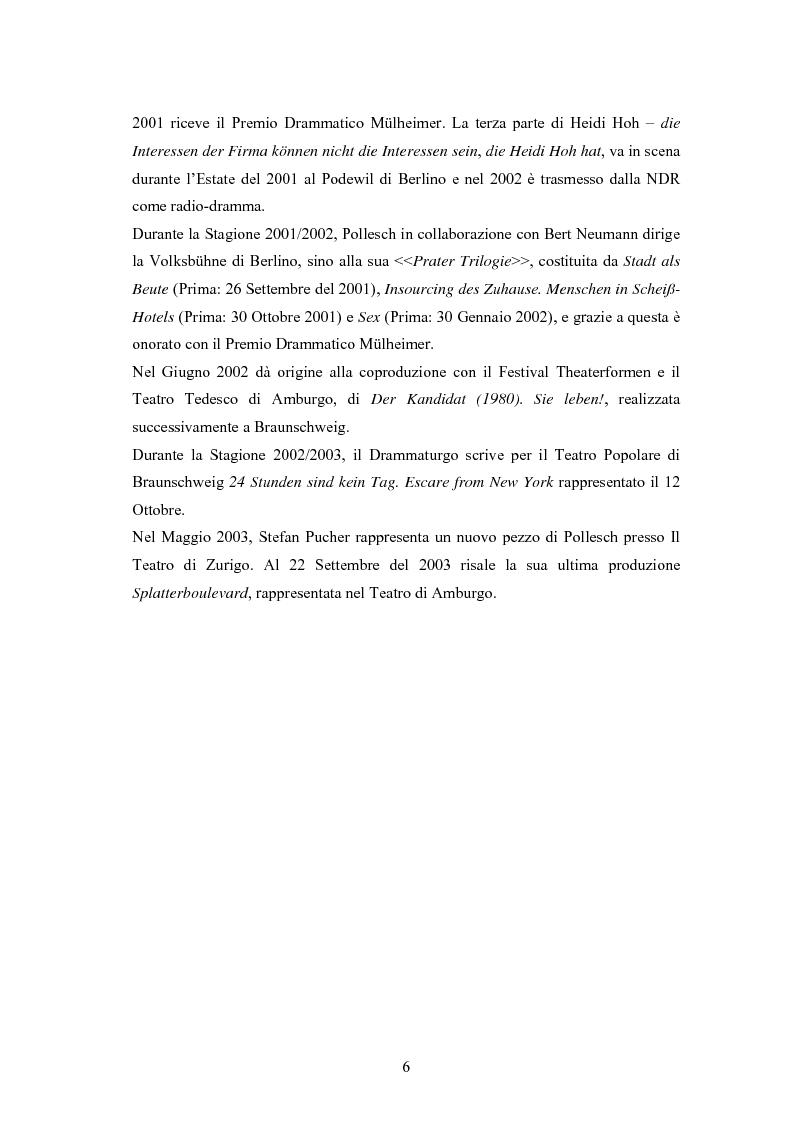 Anteprima della tesi: René Pollesch, Pagina 6