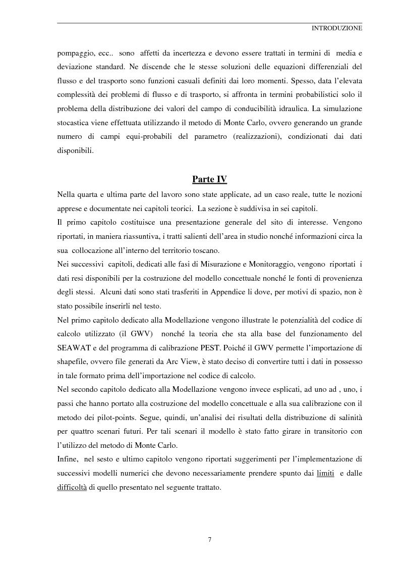 Anteprima della tesi: Modellizzazione Numerica dell'Intrusione Salina nell'Acquifero Costiero del Fiume Cecina, Pagina 7