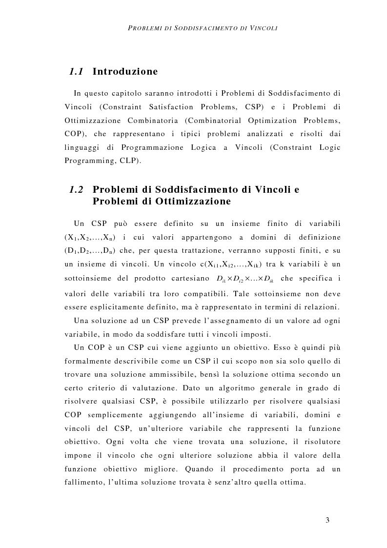 Anteprima della tesi: Determinazione del vincitore nelle aste combinatorie: un approccio a vincoli, Pagina 4