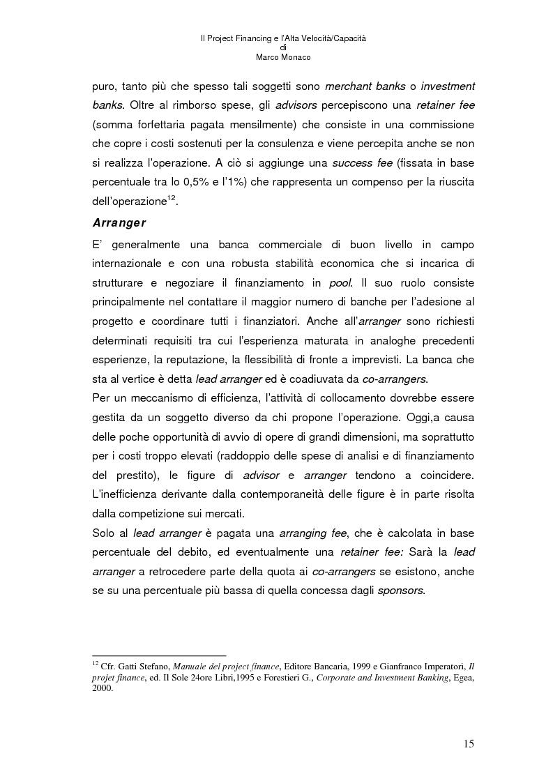 Anteprima della tesi: Il project financing e l'alta velocità/capacità, Pagina 11
