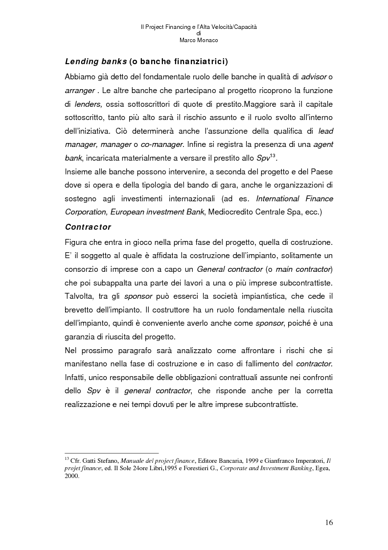 Anteprima della tesi: Il project financing e l'alta velocità/capacità, Pagina 12