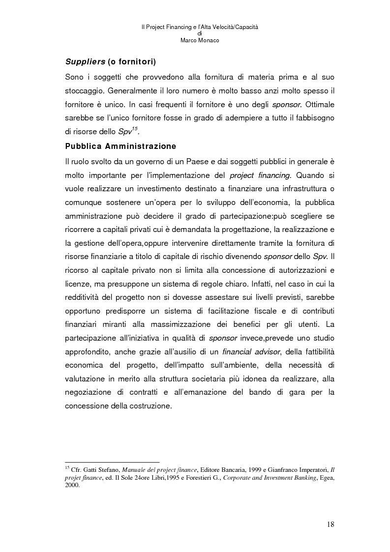 Anteprima della tesi: Il project financing e l'alta velocità/capacità, Pagina 14