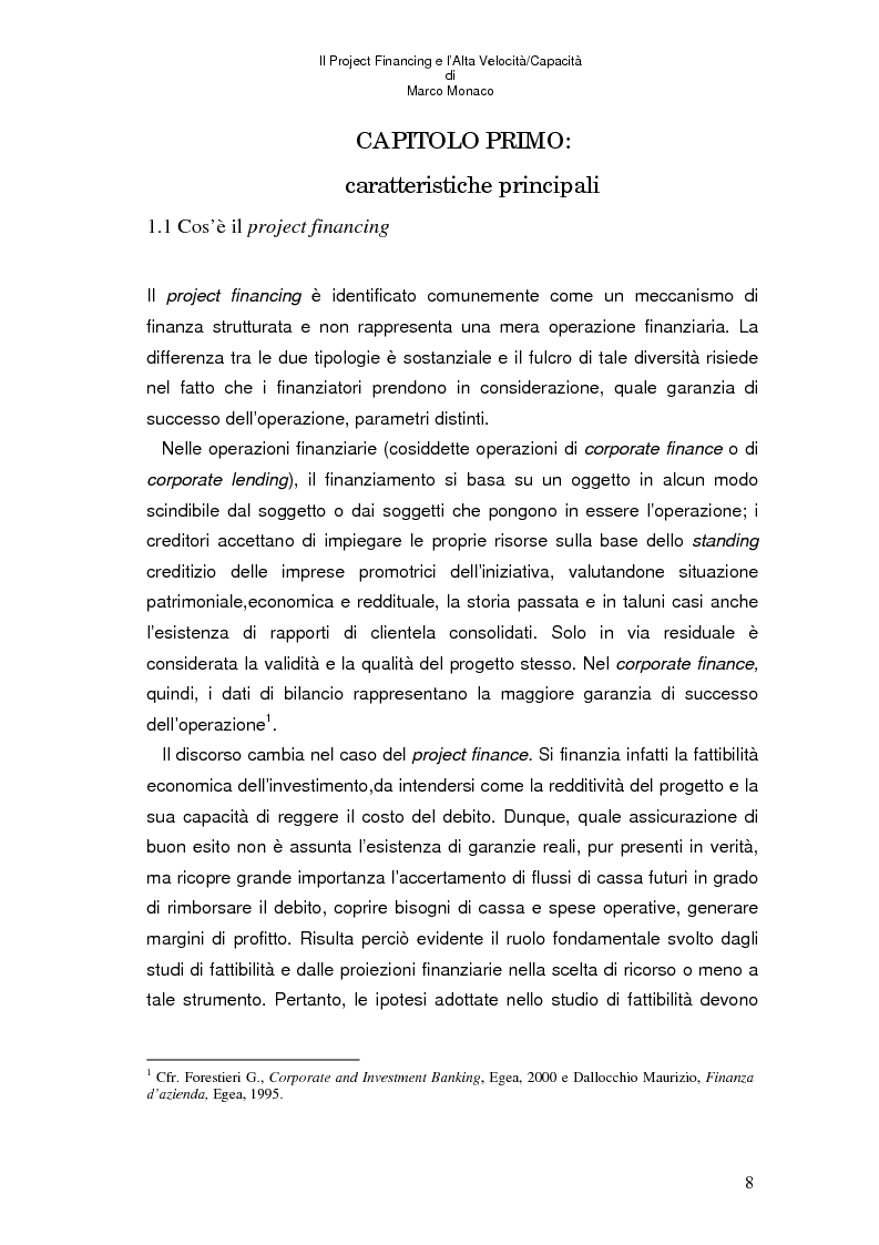 Anteprima della tesi: Il project financing e l'alta velocità/capacità, Pagina 4
