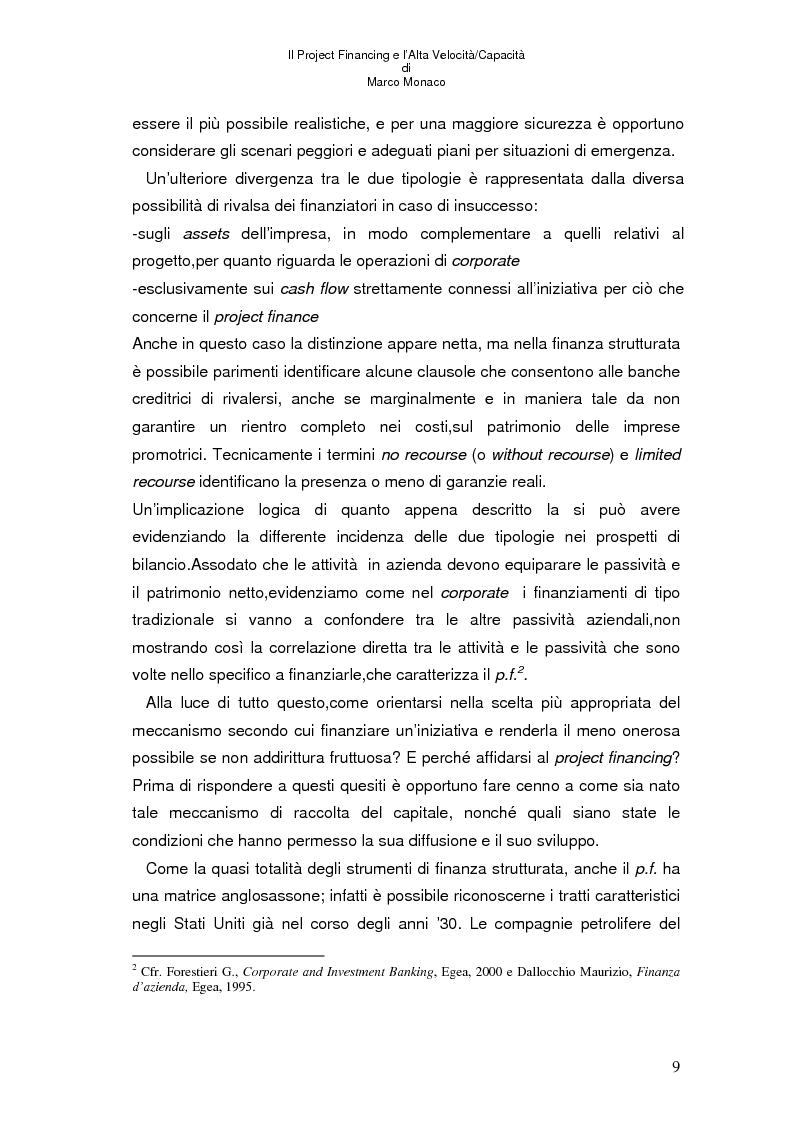 Anteprima della tesi: Il project financing e l'alta velocità/capacità, Pagina 5