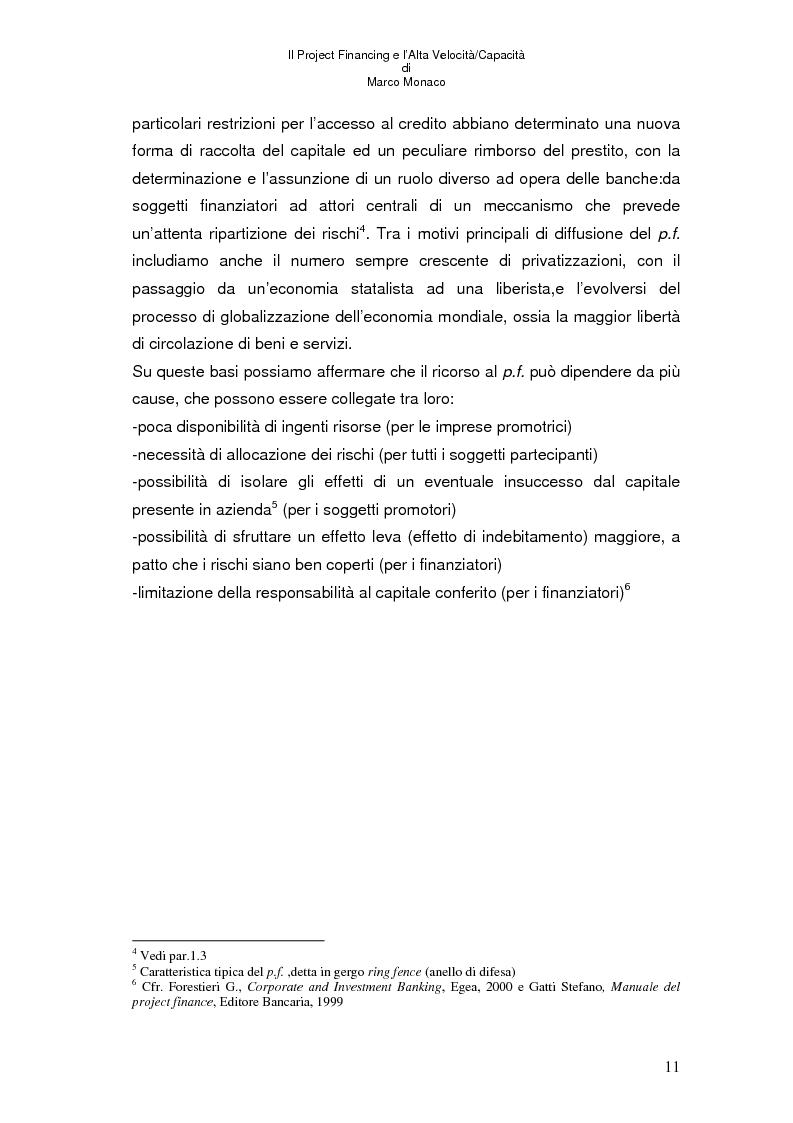 Anteprima della tesi: Il project financing e l'alta velocità/capacità, Pagina 7