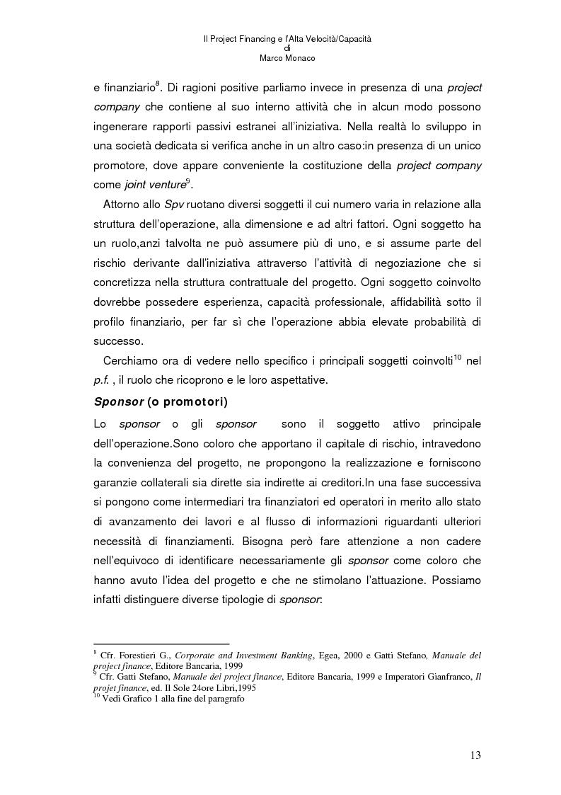 Anteprima della tesi: Il project financing e l'alta velocità/capacità, Pagina 9