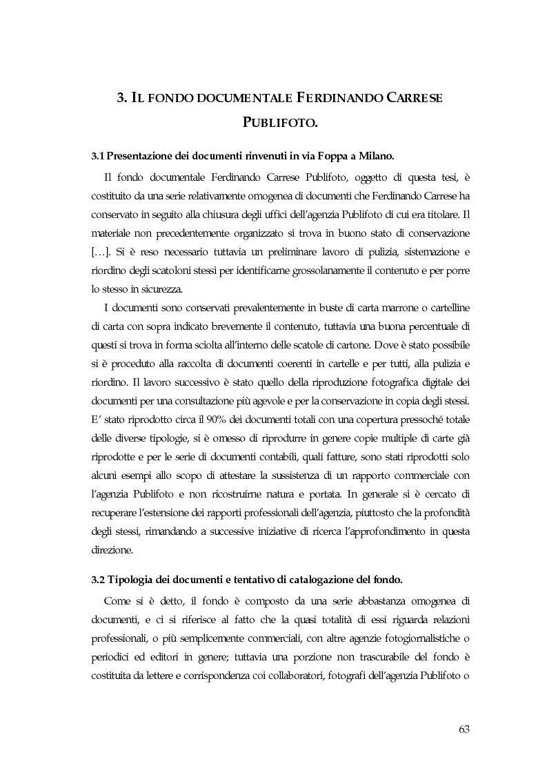 L'avventura di Vincenzo Carrese e di PUBLIFOTO, le carte del Fondo Ferdinando Carrese (1952-1980). - Tesi di Laurea