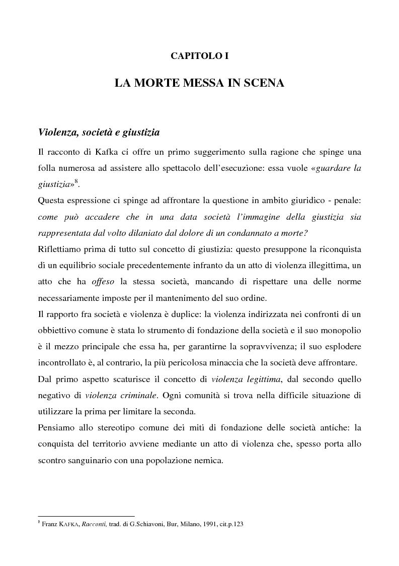 Anteprima della tesi: Lo spettacolo della morte e i suoi aspetti politici, Pagina 8