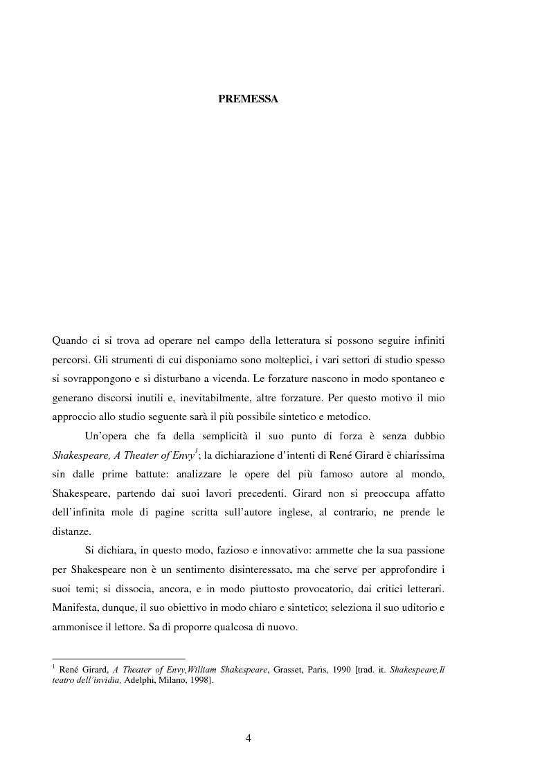 Anteprima della tesi: Il Desiderio Triangolare. Uno studio girardiano delle tragedie di John Webster, Pagina 1