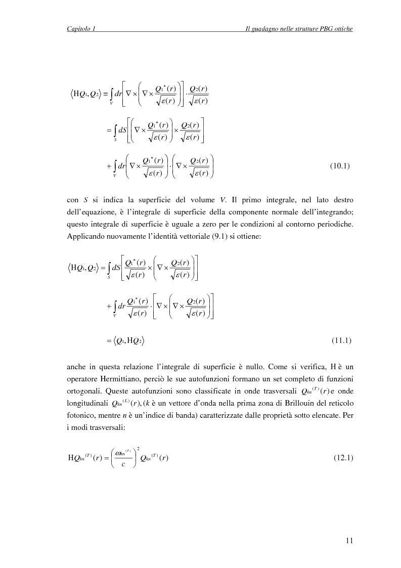 Anteprima della tesi: Studio dell'amplificazione in strutture a banda fotonica proibita, Pagina 10