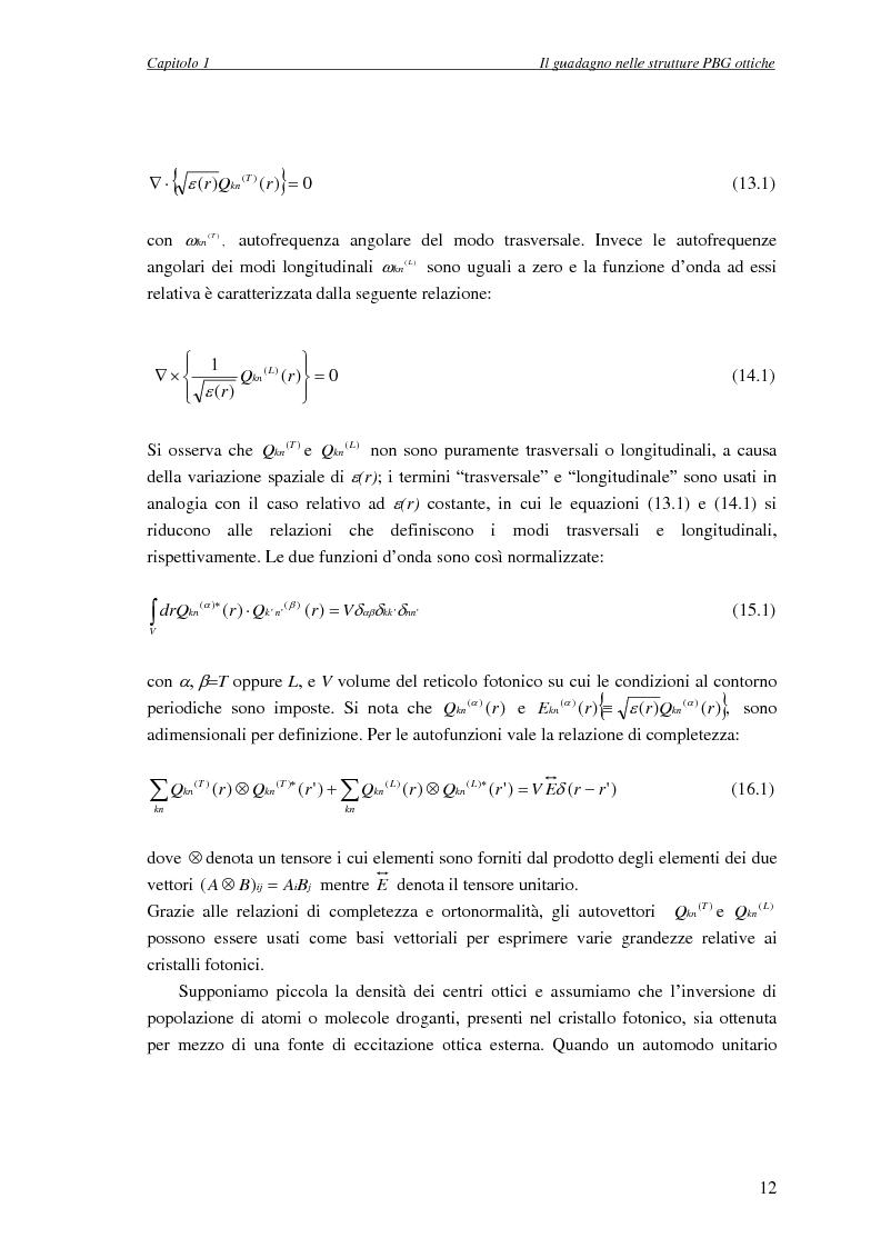 Anteprima della tesi: Studio dell'amplificazione in strutture a banda fotonica proibita, Pagina 11