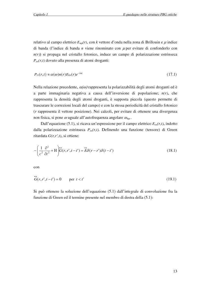 Anteprima della tesi: Studio dell'amplificazione in strutture a banda fotonica proibita, Pagina 12