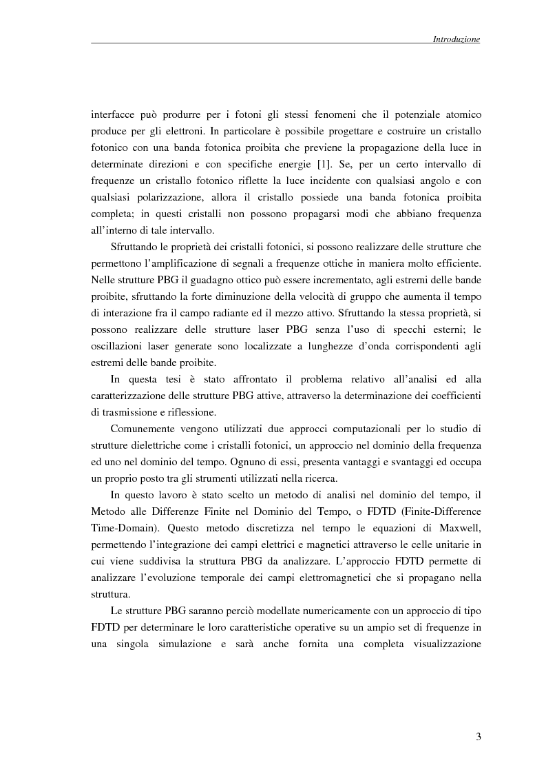 Anteprima della tesi: Studio dell'amplificazione in strutture a banda fotonica proibita, Pagina 2