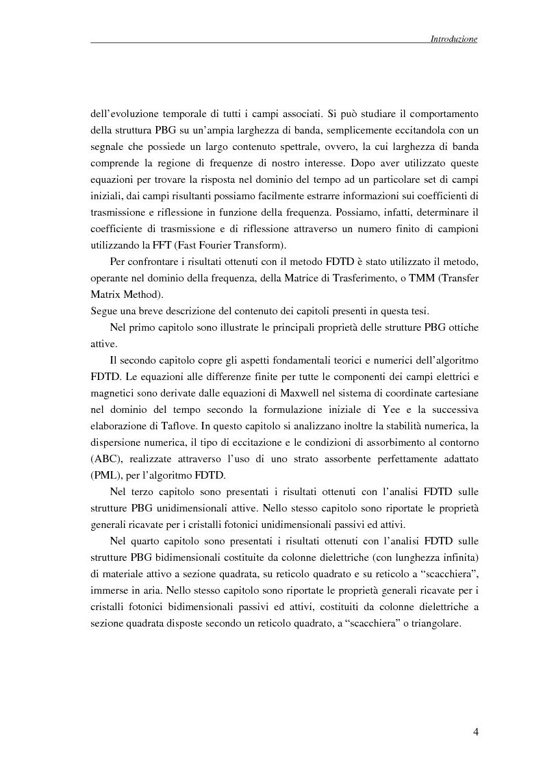 Anteprima della tesi: Studio dell'amplificazione in strutture a banda fotonica proibita, Pagina 3
