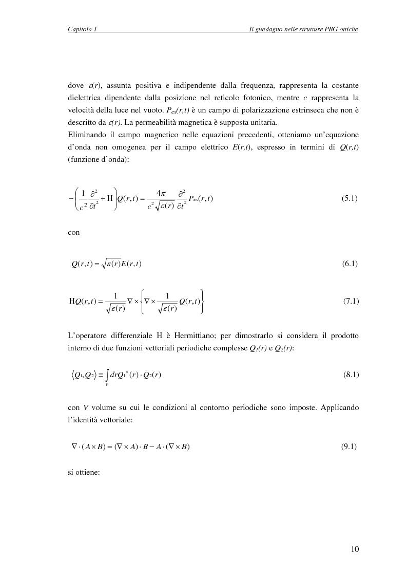 Anteprima della tesi: Studio dell'amplificazione in strutture a banda fotonica proibita, Pagina 9
