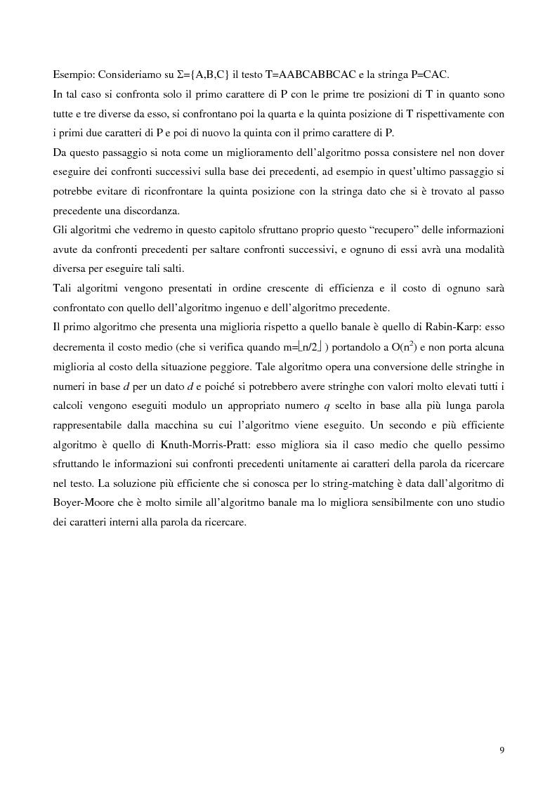 Anteprima della tesi: Teoria e ricerca di patterns in biosequenze, Pagina 6
