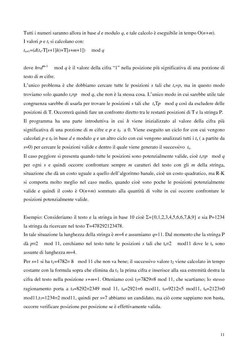 Anteprima della tesi: Teoria e ricerca di patterns in biosequenze, Pagina 8