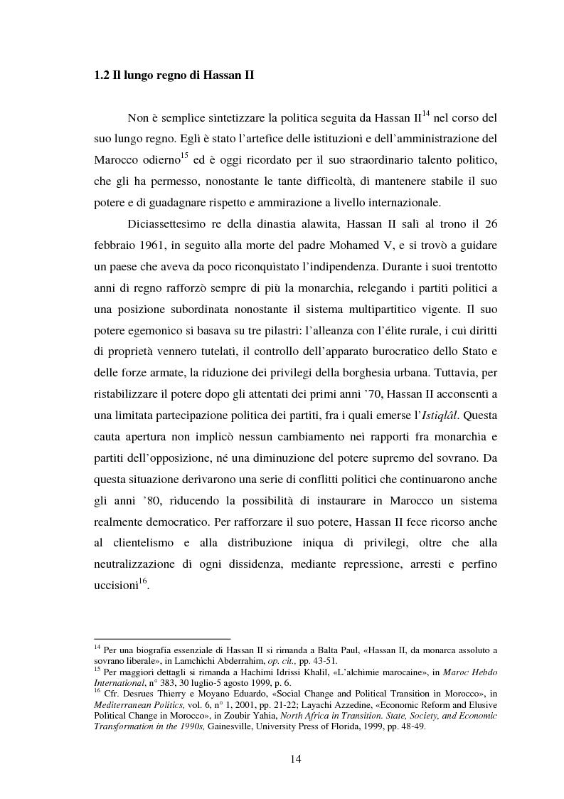 Anteprima della tesi: Il Marocco di Mohamed VI tra tradizione monarchica e tentativi di democratizzazione, Pagina 10