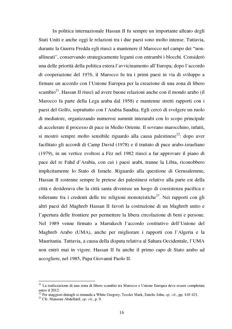 Anteprima della tesi: Il Marocco di Mohamed VI tra tradizione monarchica e tentativi di democratizzazione, Pagina 12