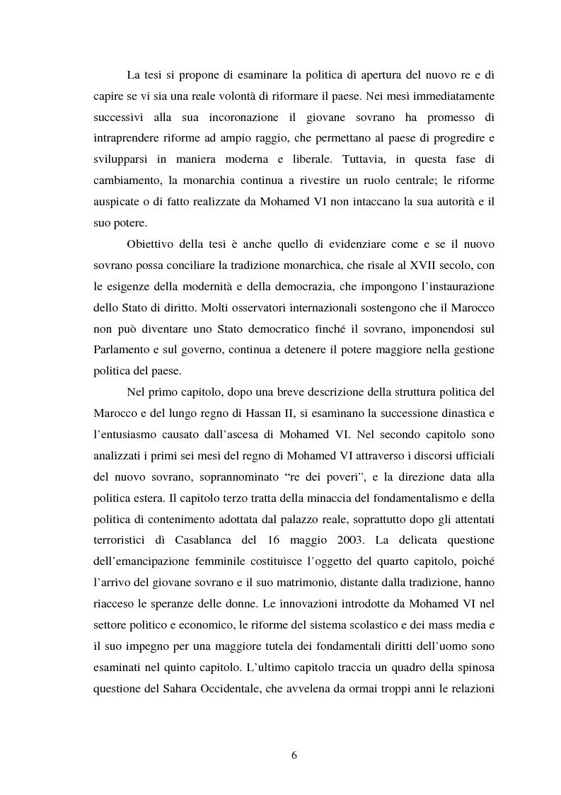 Anteprima della tesi: Il Marocco di Mohamed VI tra tradizione monarchica e tentativi di democratizzazione, Pagina 2
