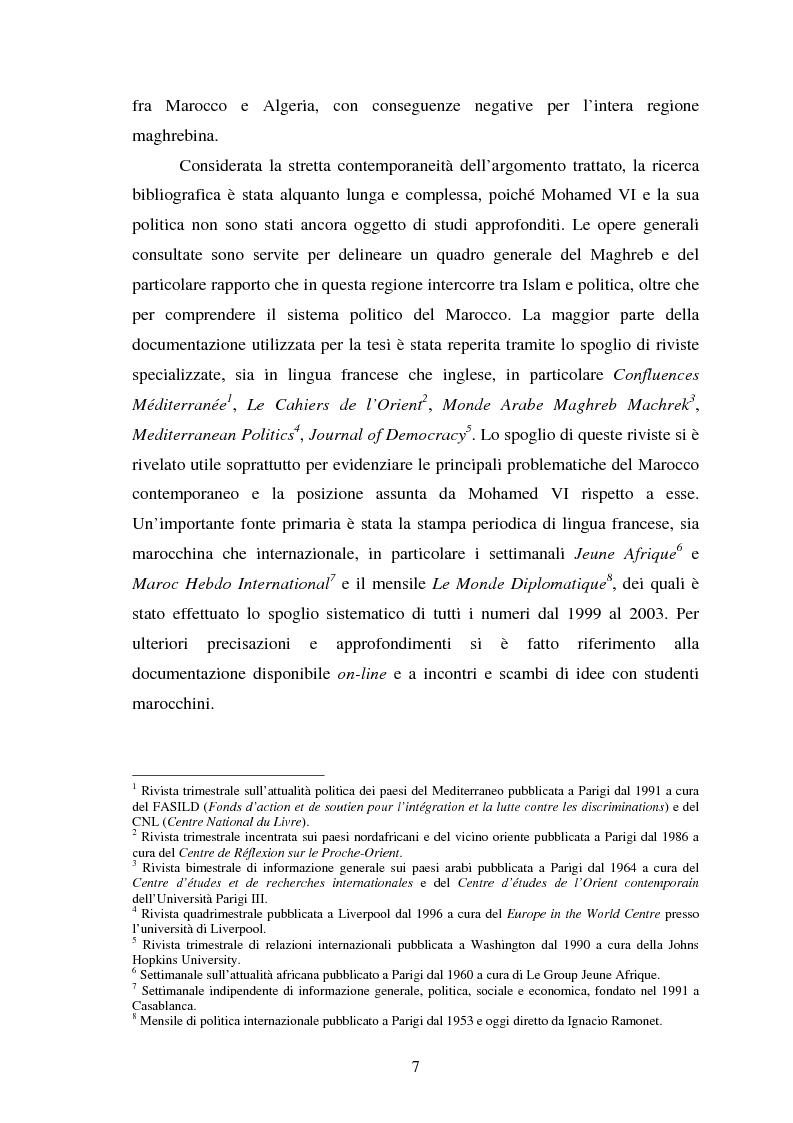 Anteprima della tesi: Il Marocco di Mohamed VI tra tradizione monarchica e tentativi di democratizzazione, Pagina 3