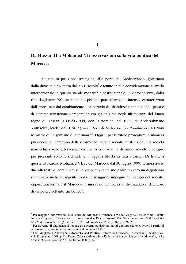 Anteprima della tesi: Il Marocco di Mohamed VI tra tradizione monarchica e tentativi di democratizzazione, Pagina 5