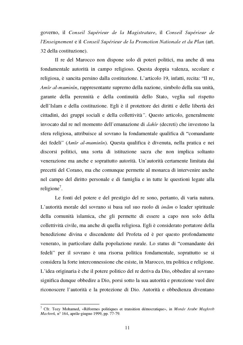Anteprima della tesi: Il Marocco di Mohamed VI tra tradizione monarchica e tentativi di democratizzazione, Pagina 7