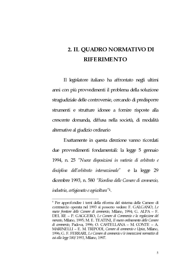 Anteprima della tesi: L'arbitrato amministrato dalle Camere di Commercio, Pagina 4