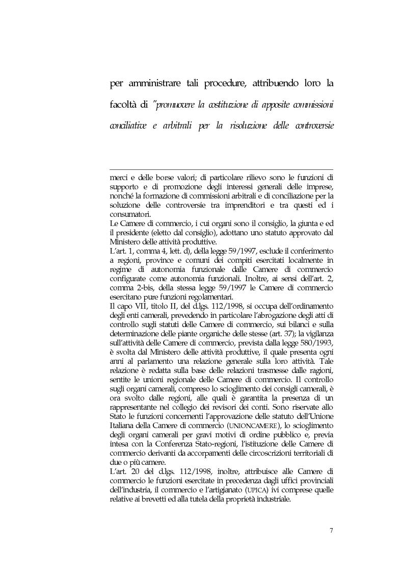 Anteprima della tesi: L'arbitrato amministrato dalle Camere di Commercio, Pagina 6