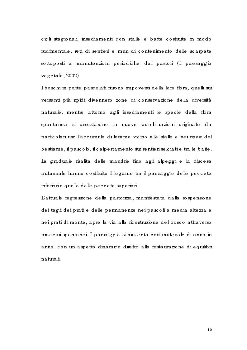 Anteprima della tesi: Utilizzo di tecnologia GIS per l'analisi di alpeggi e malghe in Alta Valtellina, Pagina 6