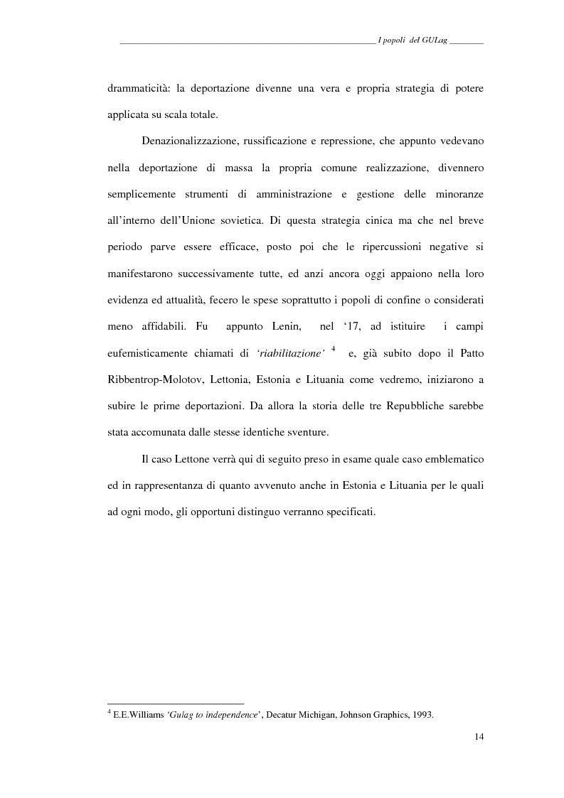 Anteprima della tesi: I popoli del GULag - strategia etnica del regime stalinista, Pagina 10