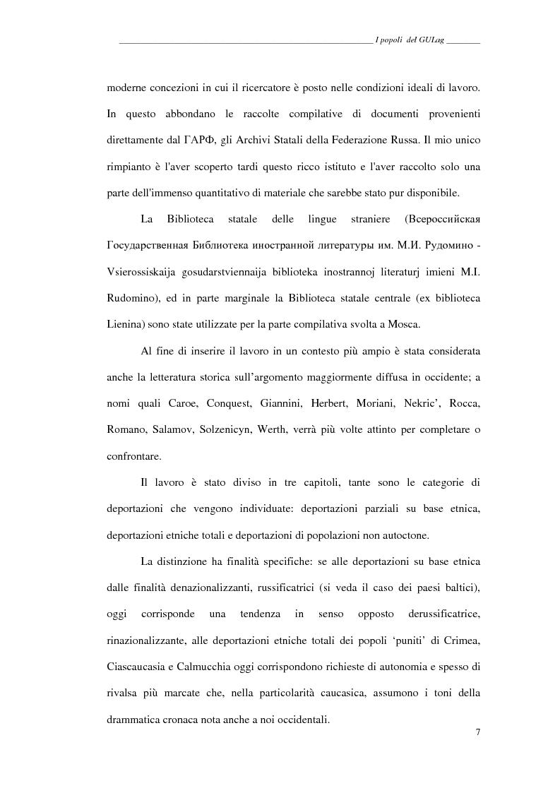 Anteprima della tesi: I popoli del GULag - strategia etnica del regime stalinista, Pagina 3