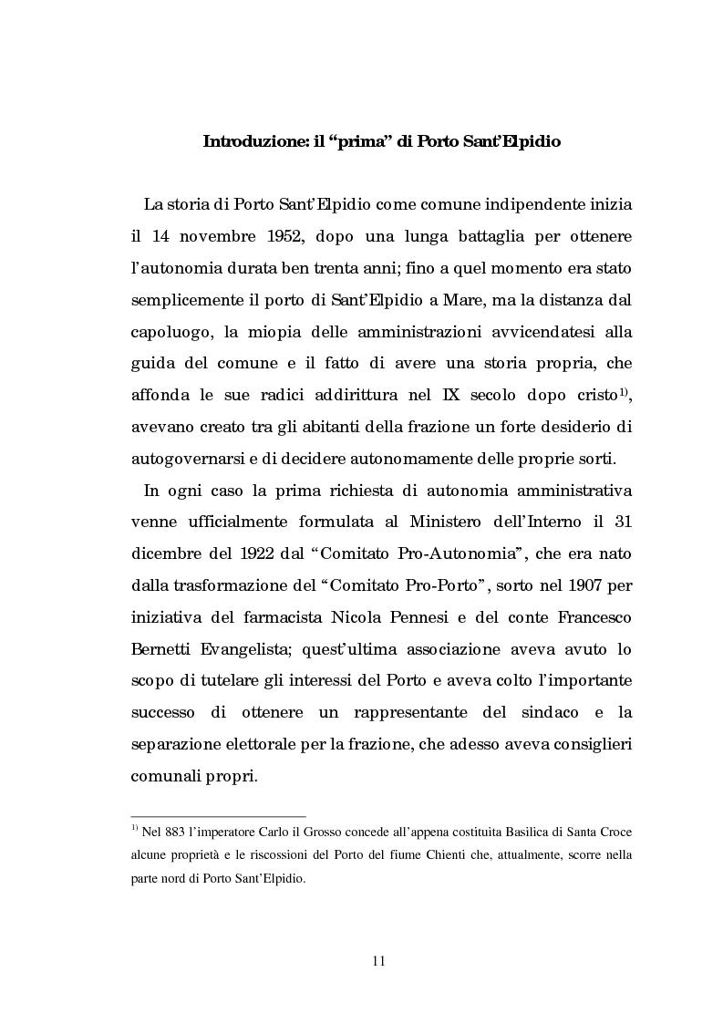 Anteprima della tesi: Un centro calzaturiero delle Marche: Porto Sant'Elpidio dal secondo dopoguerra ad oggi, Pagina 1