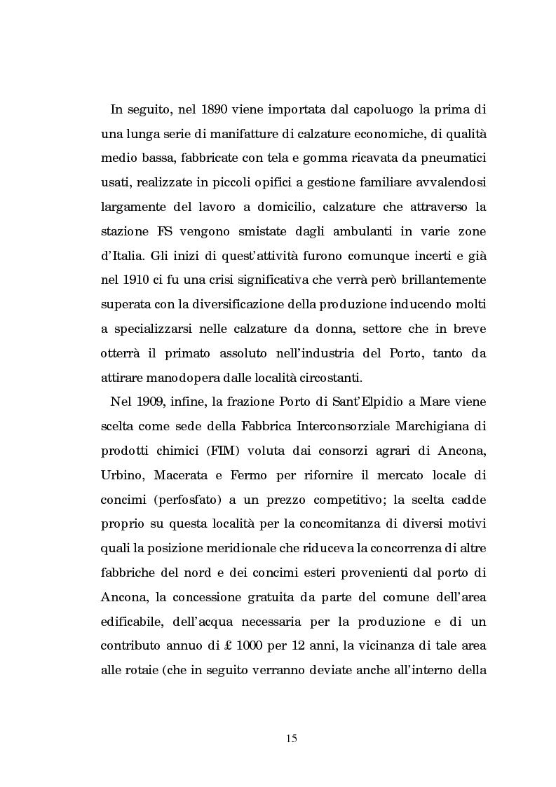 Anteprima della tesi: Un centro calzaturiero delle Marche: Porto Sant'Elpidio dal secondo dopoguerra ad oggi, Pagina 5