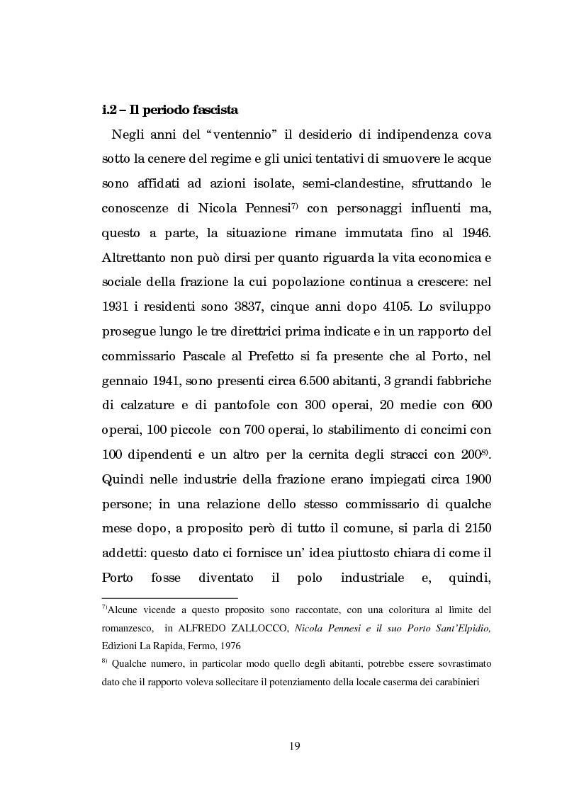 Anteprima della tesi: Un centro calzaturiero delle Marche: Porto Sant'Elpidio dal secondo dopoguerra ad oggi, Pagina 9