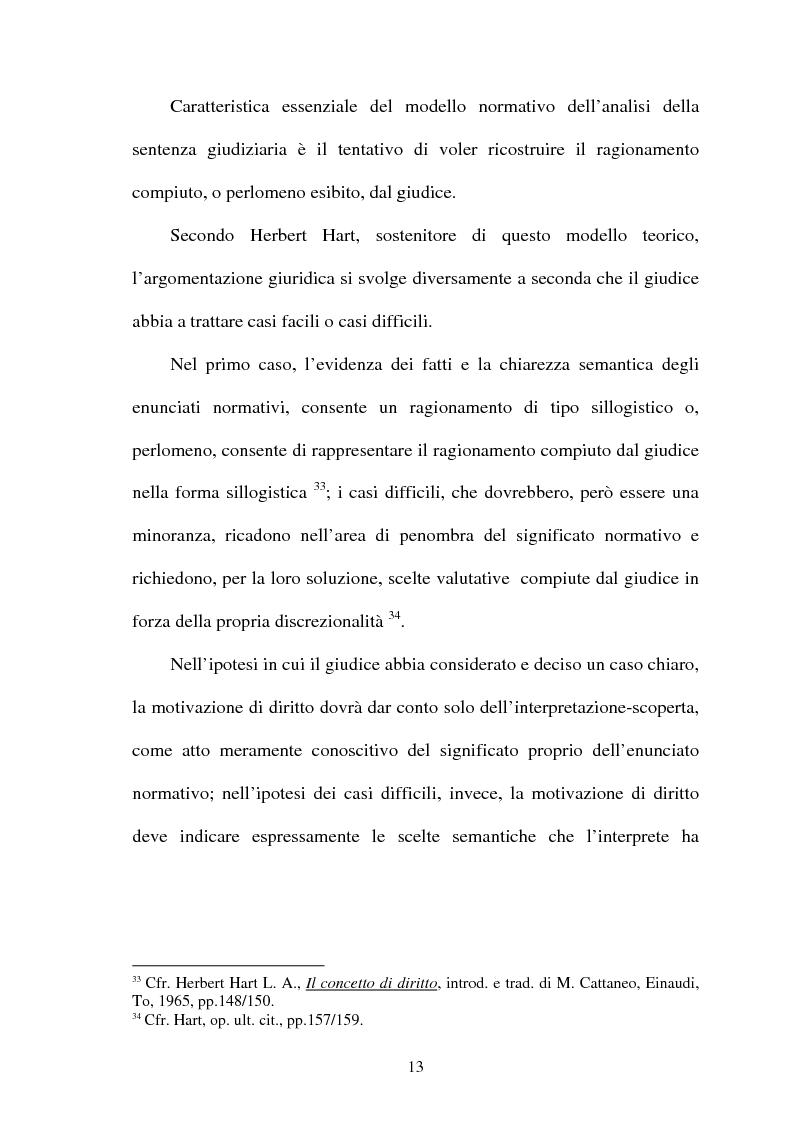 Anteprima della tesi: La Giustificazione. Motivazione e argomentazione nelle decisioni giudiziarie, Pagina 10
